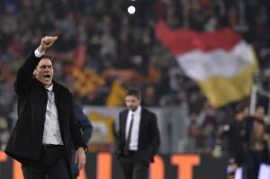 Formazioni Serie A: Fiorentina-Genoa, Cagliari-Milan, Inter-Catania, Verona-Roma Rudi Garcia nella foto LaPresse