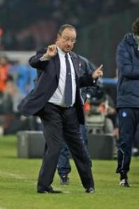 Il Napoli di Rafa Benitez si avvicina alla Roma (foto LaPresse)