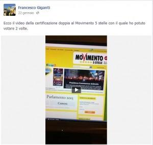 """Francesco Giganti, attivista M5s: """"Democrazia web è truffa, ho votato 2 volte"""""""