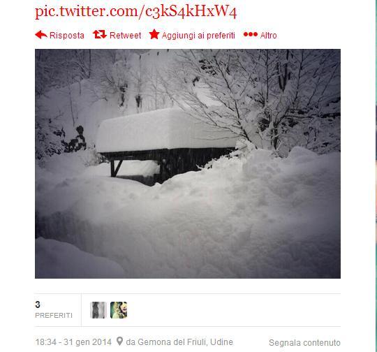 Neve sulla Carnia, Udine-Tarvisio: sospesa circolazione treni