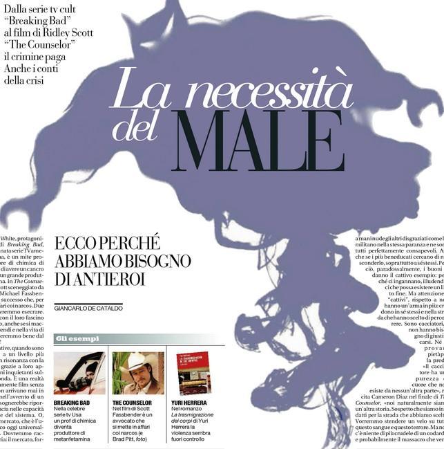 """The Counselor e Breaking Bad: """"La necessità del male"""" - Giancarlo De Cataldo"""