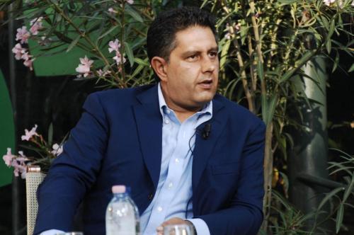 Giovanni Toti, il nuovo coordinatore dei circoli di Forza Italia (foto Lapresse)