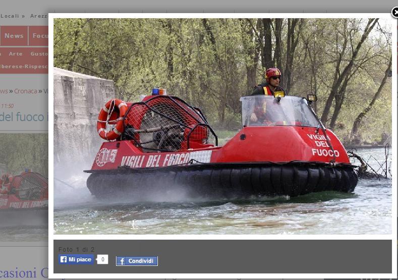 Maremma allagata: i soccorsi arrivano sugli Hovercraft