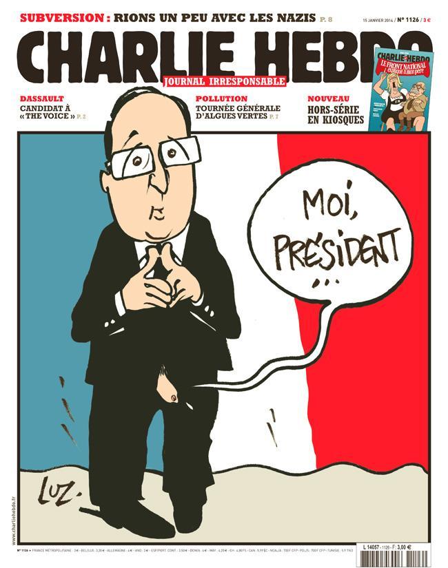 Francois Hollande, copertina di Charlie Hebdo ironizza sul tradimento (foto)