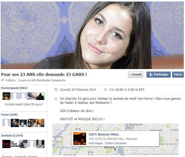"""Heidi Van-Horny: """"Sesso con 23 uomini per mio compleanno"""". Via al contest su Fb"""