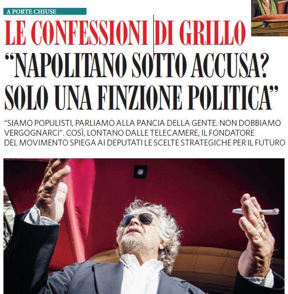 Impeachment Napolitano? Grillo diceva finzione politica