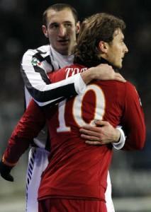 Juventus-Roma, Totti e Chiellini accendono sfida scudetto. Pressione su Rizzoli (LaPresse)