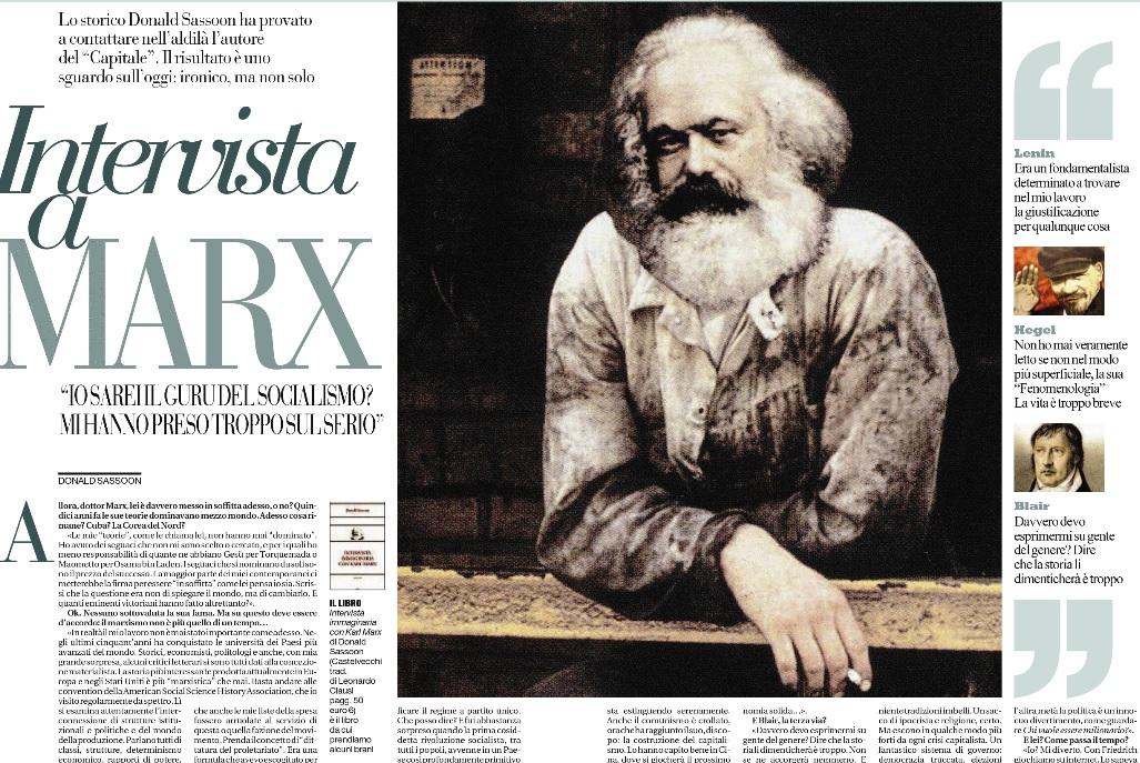 """L'America? Esce più forte da ogni crisi capitalista: """"Karl Marx"""" a Donald Sassoon"""