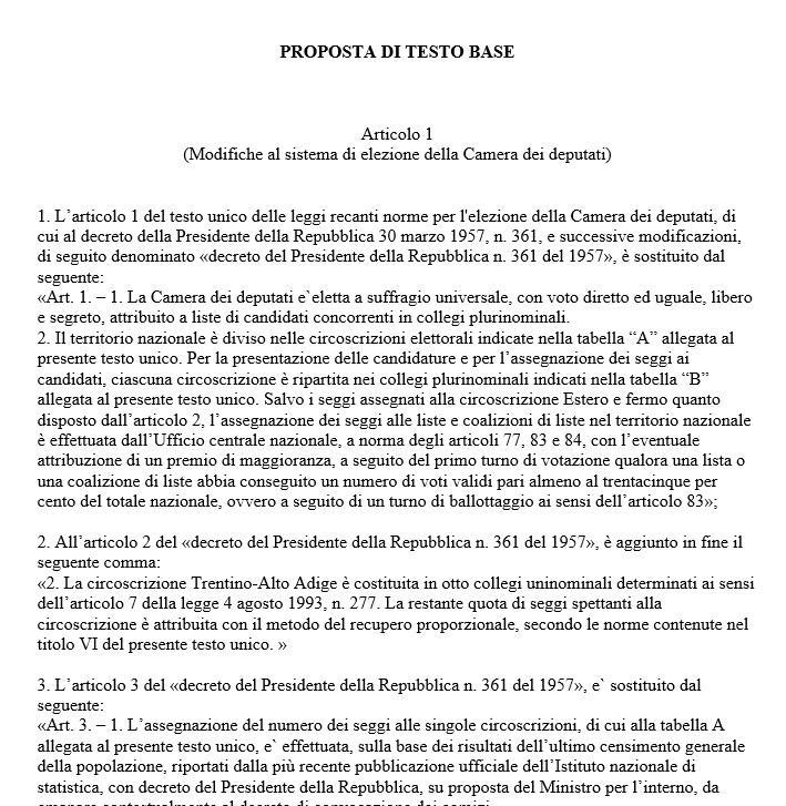 Italicum: testo integrale della nuova legge elettorale (scarica il Pdf)