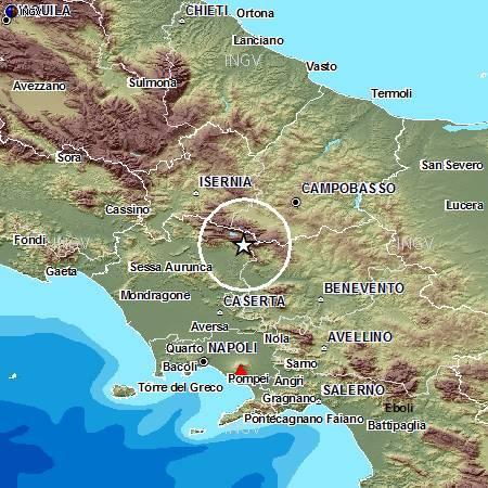 Terremoto, scossa avvertita a Isernia: evacuate le scuole
