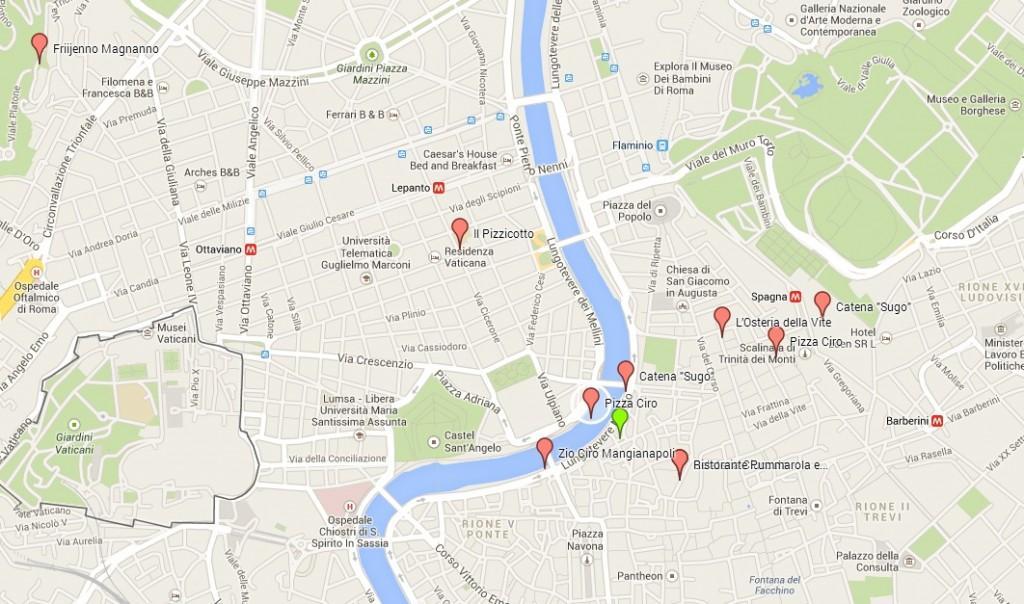 La mappa dei ristoranti sequestrati