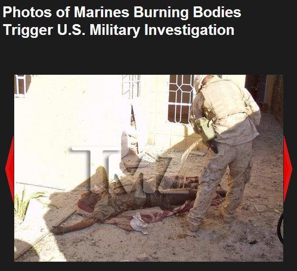 Marines Usa bruciano i cadaveri degli iracheni: le foto choc