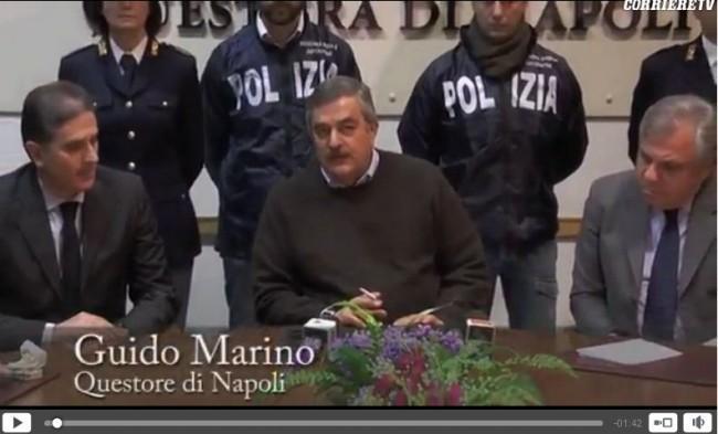 Questore Guido Marino fuma in conferenza stampa