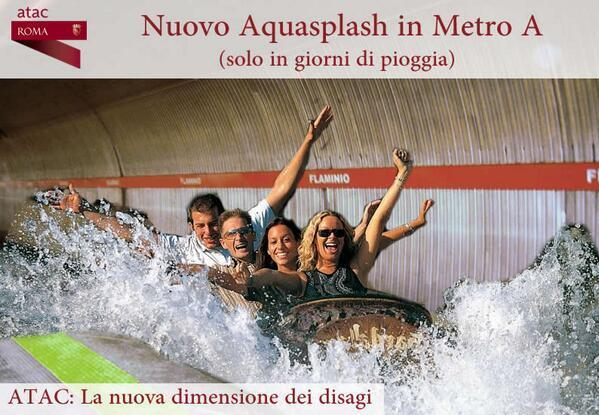 Nubifragio Roma, metro diventa un luna park acquatico: foto-ironia su Twitter