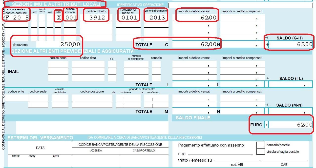 Mini imu fai da te compilazione modello f24 istruzioni for Dove pagare f24