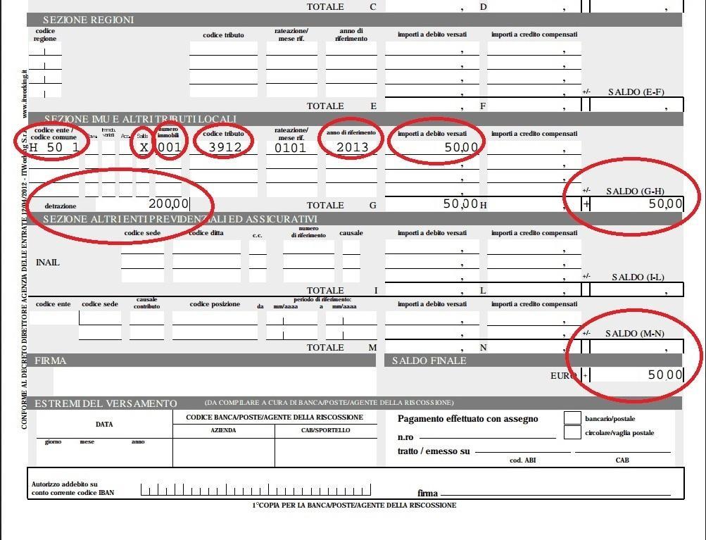 Mini imu prima casa 24 gennaio come calcolare e compilare for Dove si paga f24