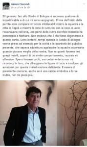 """Bologna, fischi a Lucio Dalla. Gianni Morandi: """"Non voglio più esser presidente"""""""