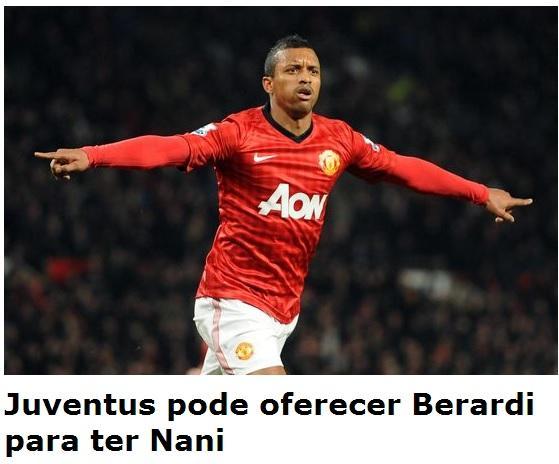 Calciomercato, per Nani la Juve offre Berardi al Manchester United