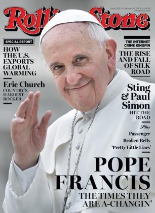 """Papa Francesco """"rock"""" sulla copertina di Rolling Stone"""