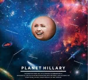 La copertina Planet Hillary del Nyt Magazine