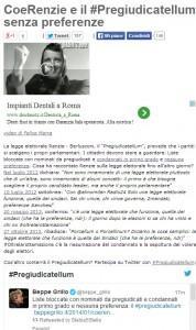 """Legge elettorale, blog Beppe Grillo: da Renzi e Berlusconi il """"Pregiudicatellum"""""""