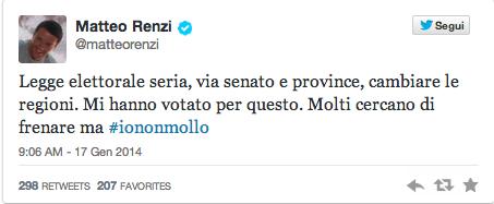 """Legge elettorale, Matteo Renzi: """"Cercano di fermarmi. Ma io non mollo"""""""