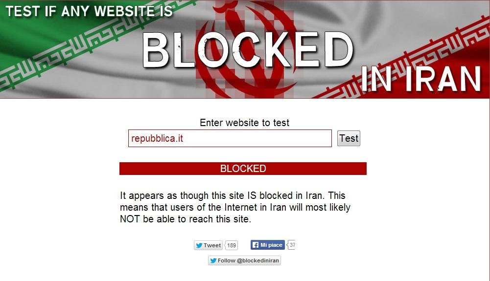 Censurato in iran sito oscurato blitz for Sito repubblica