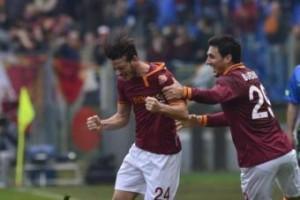 Roma-Genoa 4-0, video gol: Florenzi rovesciata, Totti torna alla rete (LaPresse)