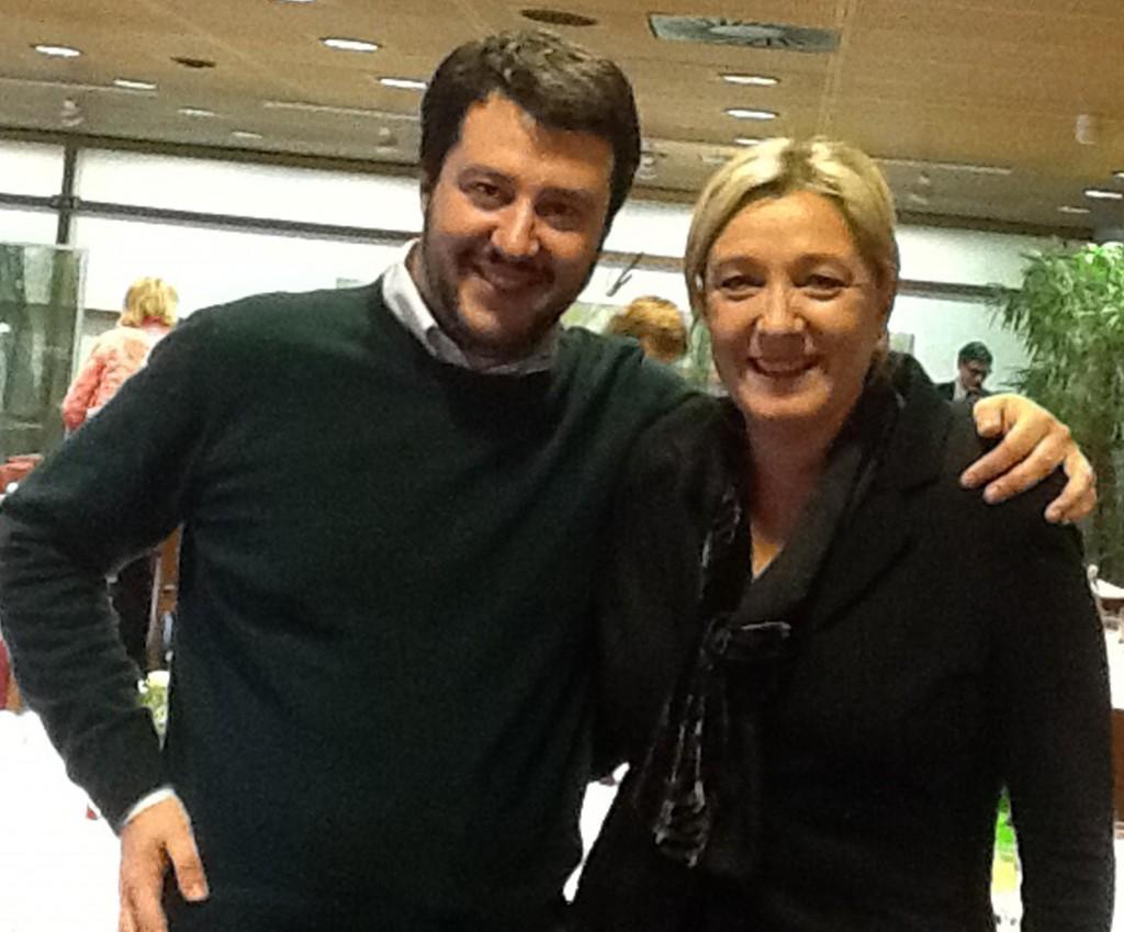 """Matteo Salvini-Marine Le Pen (foto): """"Uniti contro l'Europa"""""""