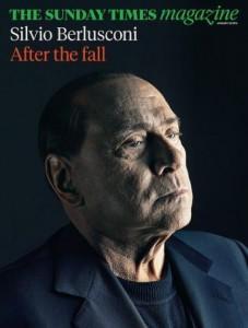 """Silvio Berlusconi """"senza trucco"""" nella copertina del Sunday Times"""