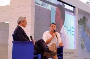 Enrico Mentana e Matteo Renzi (LaPresse)