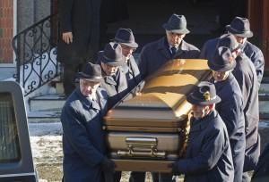 Vito Rizzuto, il funerale (foto Lapresse)
