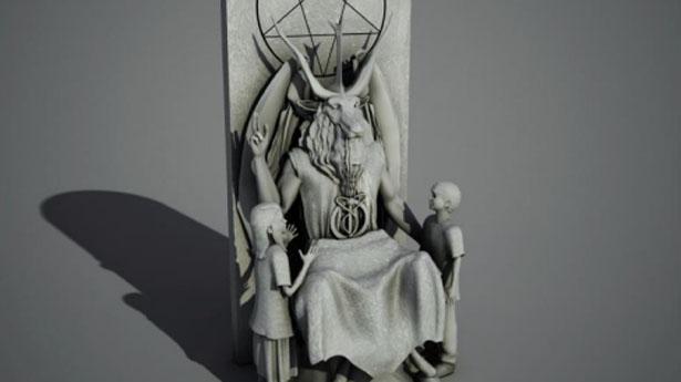 """Satanisti Usa: """"Statua di Satana-Bafometto nella piazza di Oklahoma City"""""""