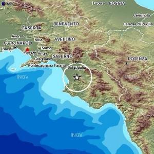 Terremoto di magnitudo 3.7 in provincia di Salerno