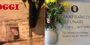 Gianfranco Funari, dopo 6 anni arriva la lapide: tomba abbandonata per lite...