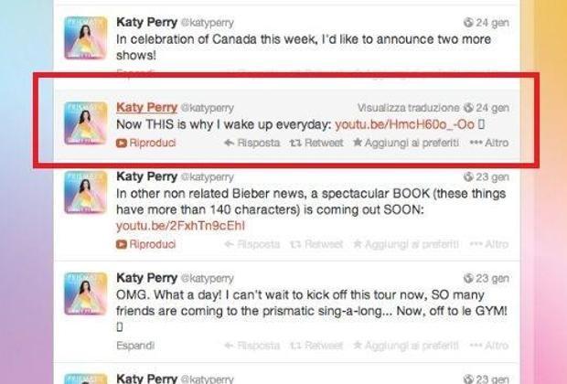 Katy Perry retwitta il video dei terremotati dell'Emilia