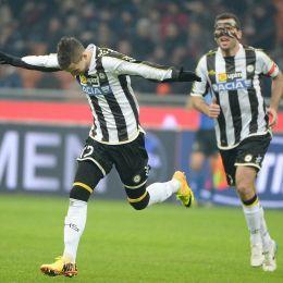 Udinese, Nico Lopez esulta dopo il gol (Ansa)