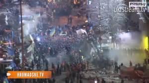 Scontri tra polizia e manifestanti a Kiev