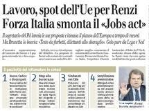 """Il Giornale: """"Forza Italia smonta il Jobs Act"""""""