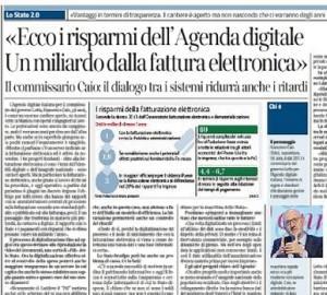 """Francesco Caio: """"Ecco i risparmi dell'Agenda digitale. Un miliardo dalla fattura elettronica"""""""