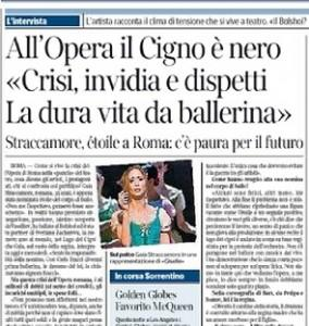"""Gaia Straccamore: """"Crisi, invidia e dispetti. La dura vita da ballerina"""""""