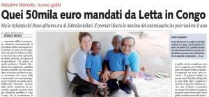 """Libero: """"Quei 50mila euro mandati da Letta in Congo"""""""