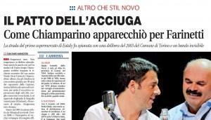 """Libero: """"Come Chiamparino apparecchiò per Farinetti"""""""