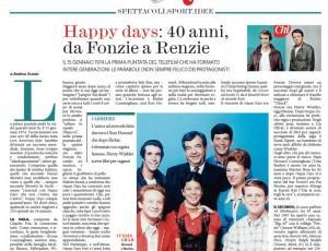 Happy Days: 40 anni, da Fonzie a Renzie