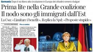 Germania, prima lite nella grande coalizione. Il nodo sono gli immigrati