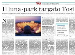Il luna-park targato Tosi, Tomaso Montanari sul Fatto Quotidiano