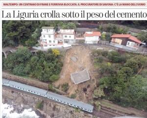 """""""La Liguria crolla sotto il peso del cemento..."""" La foto delle villette di Andora"""