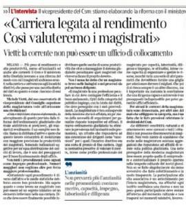 L'intervista al Corriere della Sera