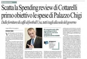 Palazzo Chigi, la spending review di Cottarelli: tutti i tagli