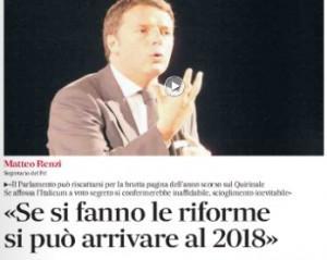 """Matteo Renzi, intervista al Messaggero: """"Con le riforme arriviamo al 2018"""""""